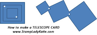 How to make a telescope card - by StampLadyKatie