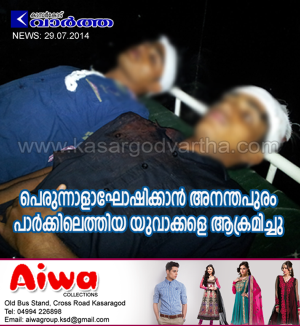 Kasaragod, General-hospital, Youth, Photo, Injured, Bike, Police, Anandapuram park.