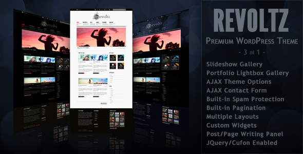 Image for Revoltz – Premium 3 in 1 Theme by ThemeForest