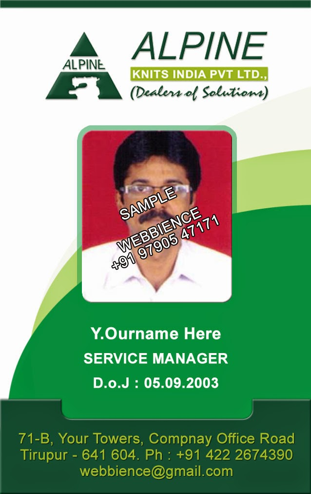 ID Card - Coimbatore - Ph: 97905 47171: Form-25C based ID Card ...