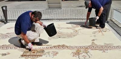 Israel recupera mosaico de 1.500 anos que mostra imagens do Egito