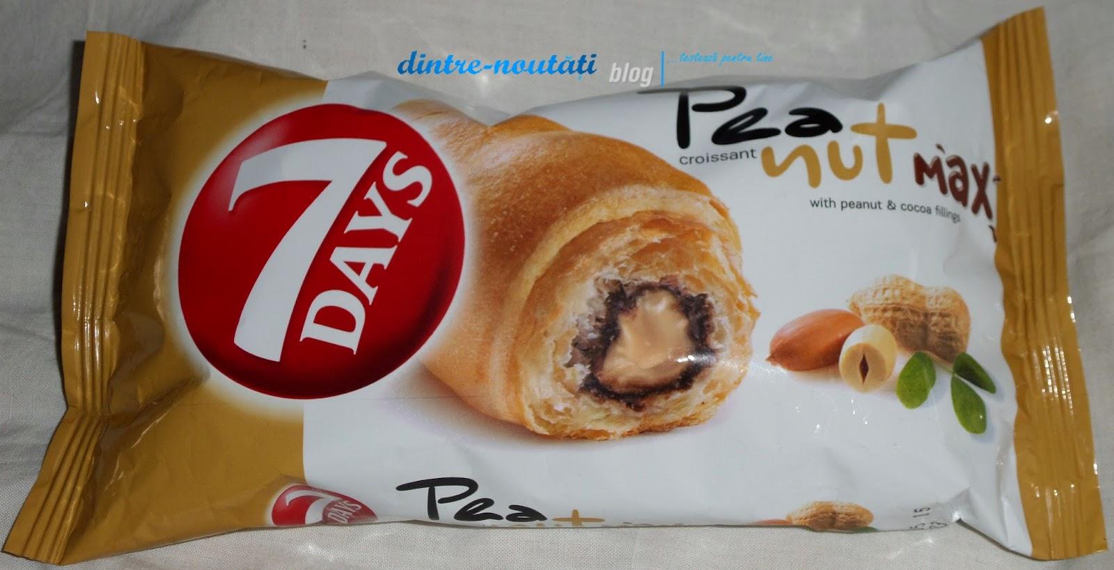 Croissant 7DAYS Peanut MaX with peanut & cocoa fillings - Croissant cu umplutură de arahide și cacao