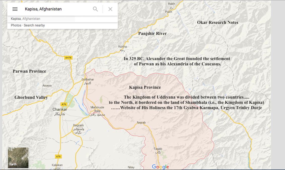Shamsibala And The Historical Shambhala Kingdom Charikar - Charikar map