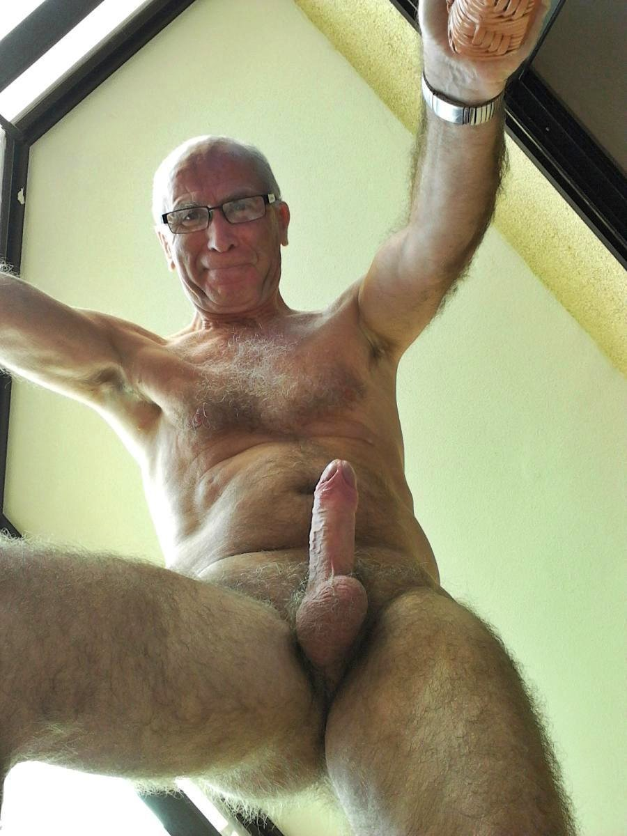granddad big cock - naked hairy silvermen