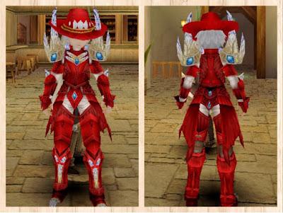 蛮竜の鎧 赤1+赤2+白3×重量化