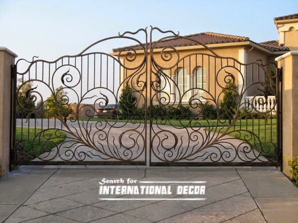 Choice of gate designs for private house and garage for Front gate design