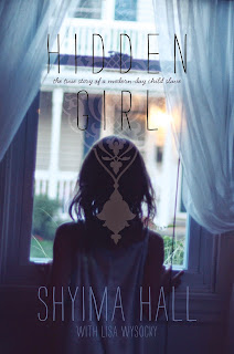 Cover of the book Hidden Girl, featuring young girl looking outside from a window.
