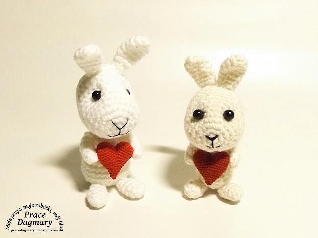 szydełkowe króliki