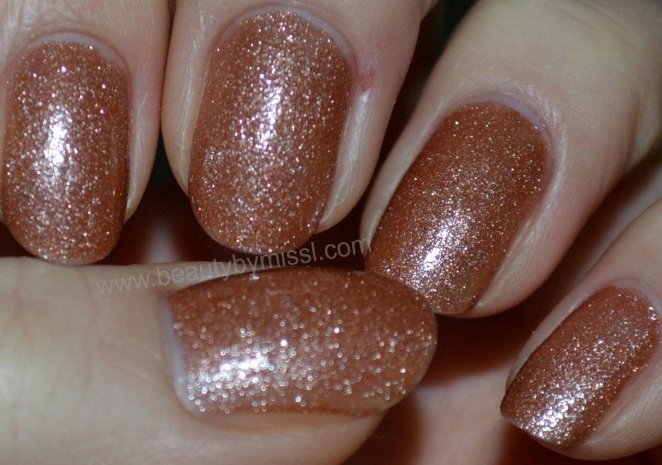 orange glitter polish