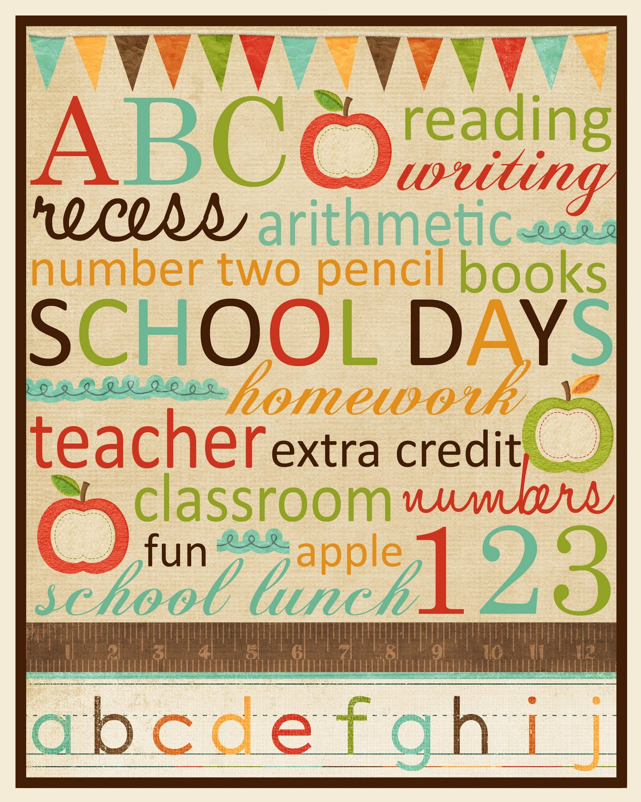 It is an image of Zany Back to School Printable