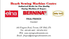 Beach Sewing Machine Centre