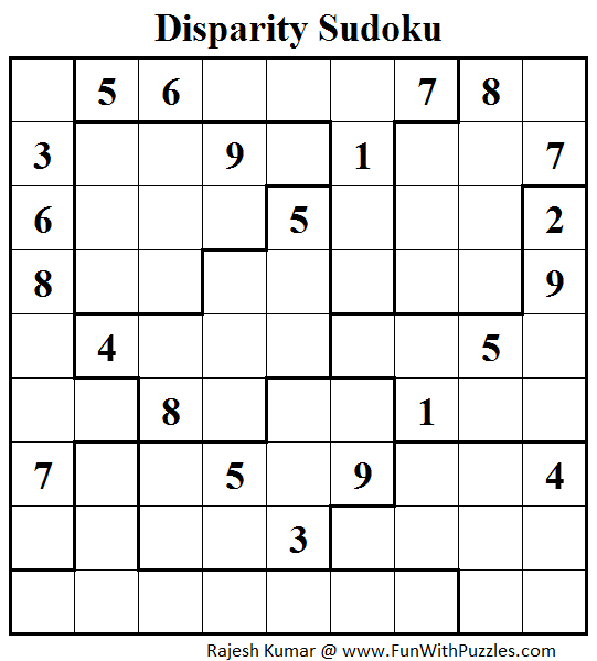 Disparity Sudoku (Daily Sudoku League #103)