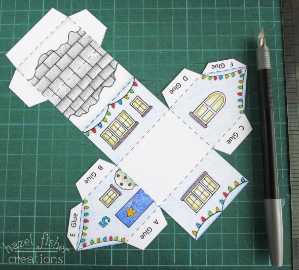 Advent Calendar Village Diy : Hazel fisher creations printable colour in advent