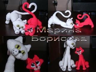 Вязаные кошки от марины борисовой