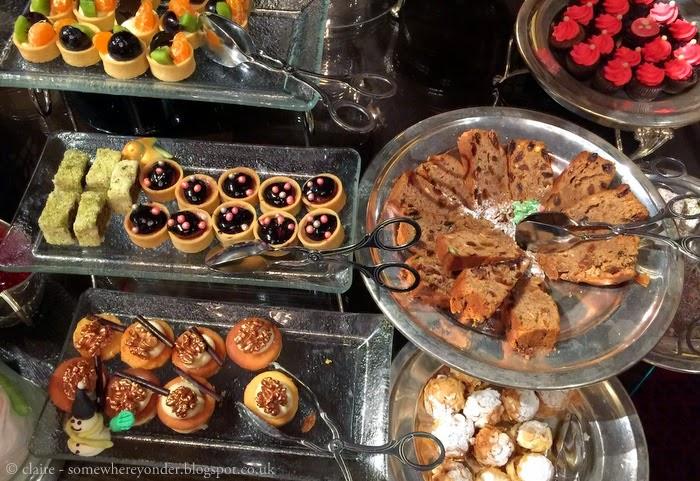sweets at afternoon tea at Pera Palace Hotel, Istanbul
