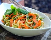 Spiral Zucchini Noodle Salad with Homemade Catalina Dressing (A Veggie Venture)