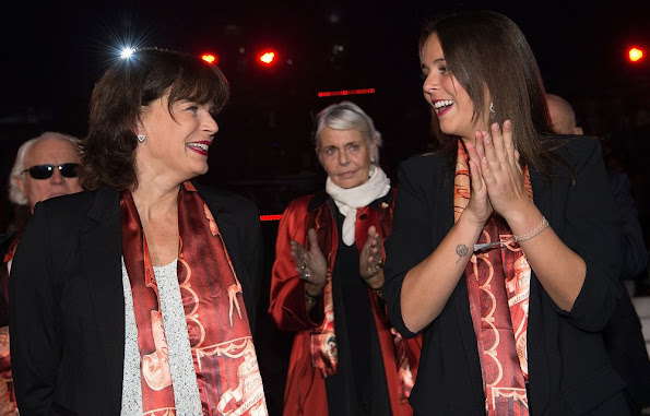 Princess Stephanie of Monaco and daughter Pauline Ducruet attend the 40th International Circus Festival