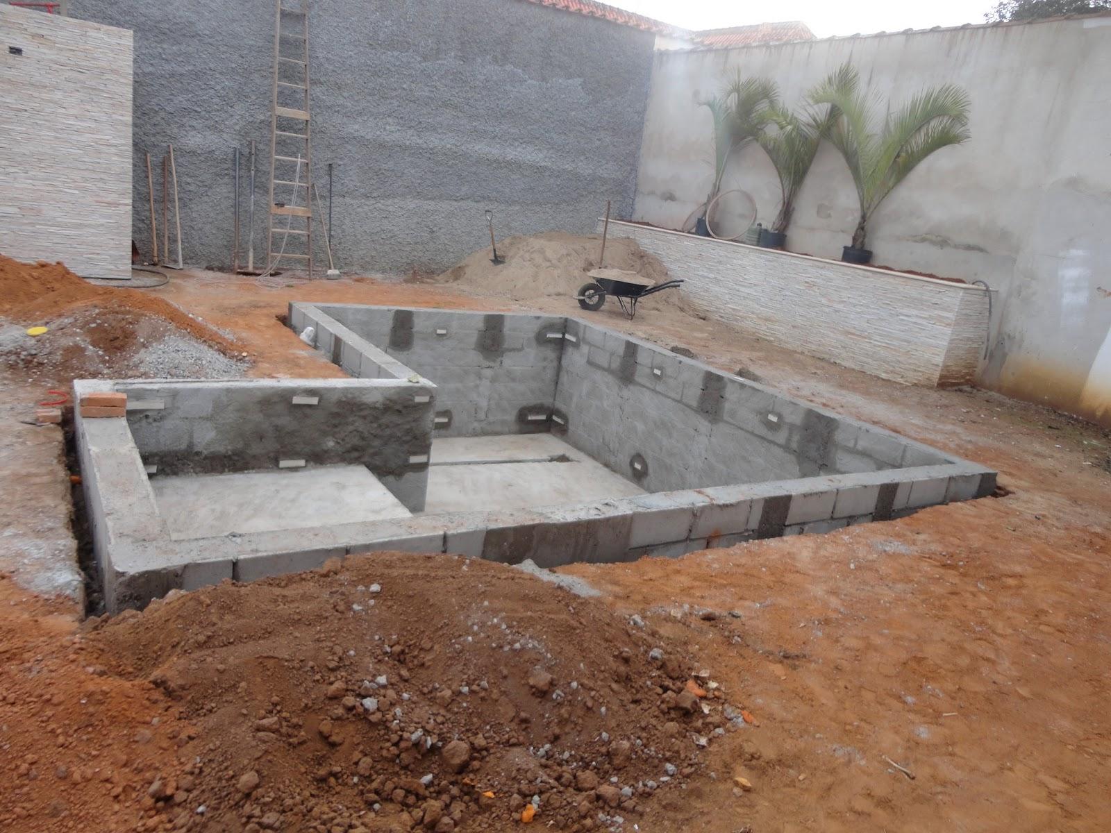 casa nosso sonho : Olha como ficou a piscina depois da 4° semana de  #6E4734 1600 1200