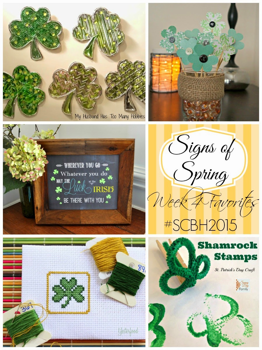 Lots of shamrocks in this Signs of Spring Round-Up, featuring crafts from the #SCBH2015