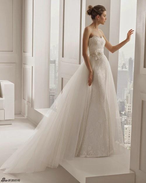BST váy cưới của Rosa Clara 2015 cho cô dâu vai thon2