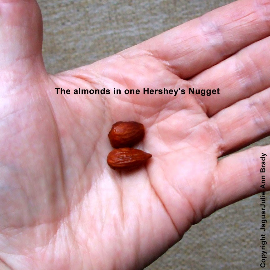 almonds from hersheys nuggets special dark chocolate