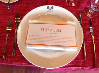 Placecard by Ruth Song, Paper Fling - Photo by Patricia Stimac, Seattle Wedding Officiant
