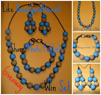 Wooden Jewellery Set Giveaway