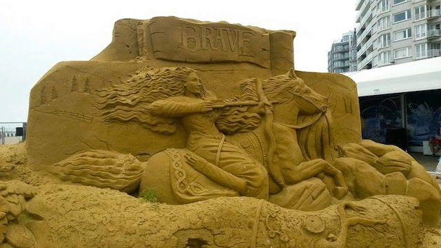 Brave Disney Sand Sculpture