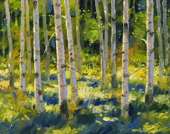 Warmth of Spring Aspens - for sale on eBay