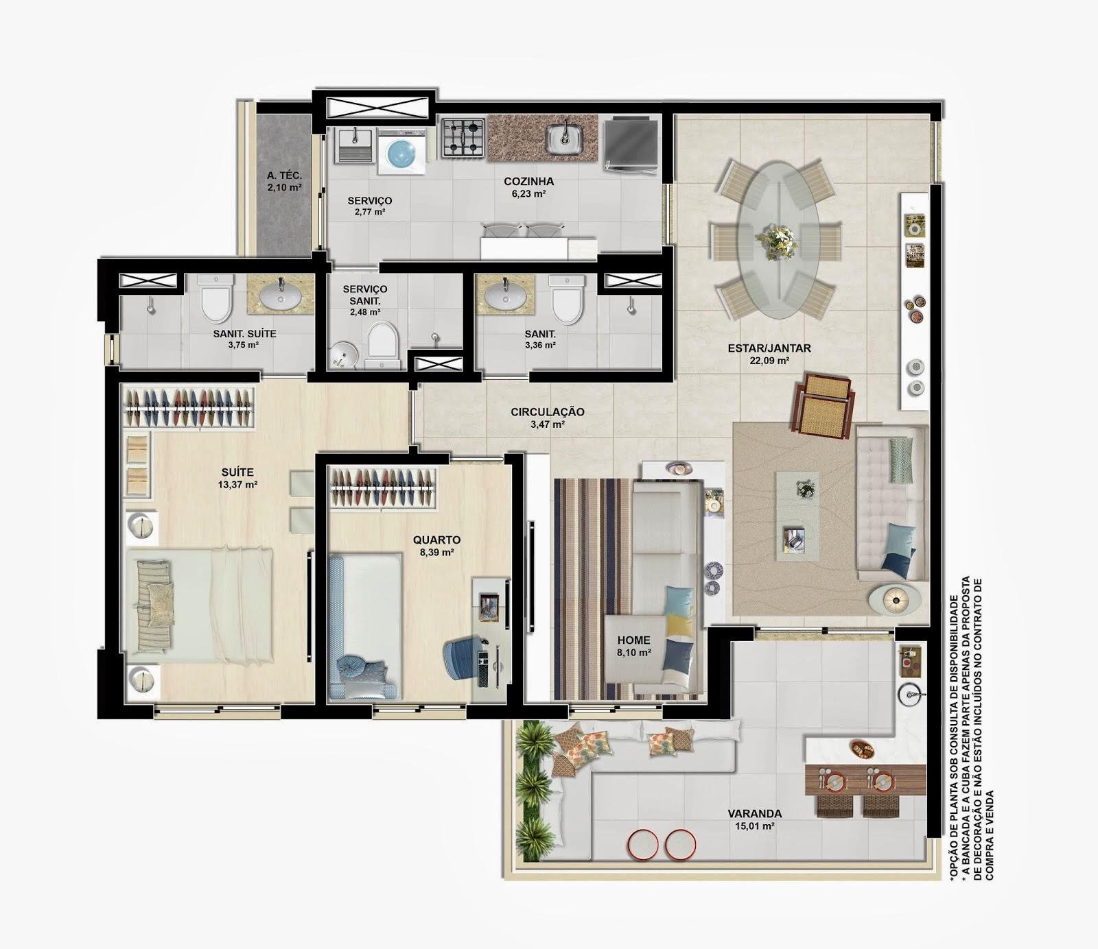 verano residencial - tipo 91m² living ampliado