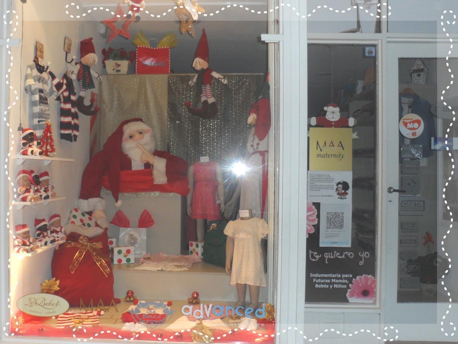 Carmin decoraciones navide as navidad 2012 vidriera - Decoracion navidena para negocios ...