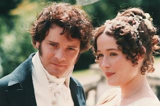 Colin Firth e Jennifer Ehle, interpretes dos personagens Sr. Darcy e Elizabeth Bennet em Orgulho e Preconceito da BBC