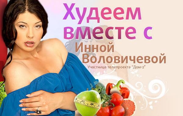 Диета Инны Воловичевой по дням - Стройняшка
