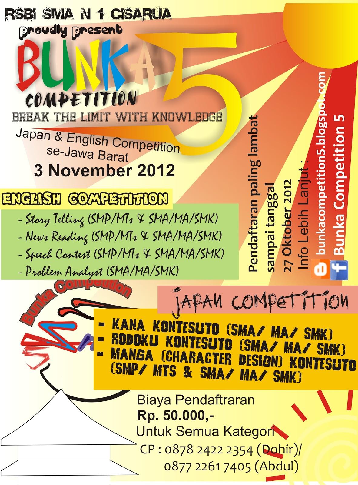 Lomba Bahasa Inggris & Jepang: Bunka Competition 5