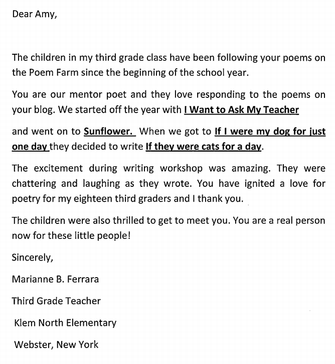 The poem farm welcome to mrs ferraras catsudents this class writes all day long and writing after listening to poems is a normal way for them to spend time together sometimes these students write their expocarfo Choice Image