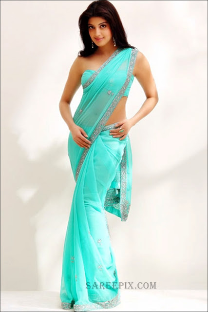 Praneetha in sky blue saree