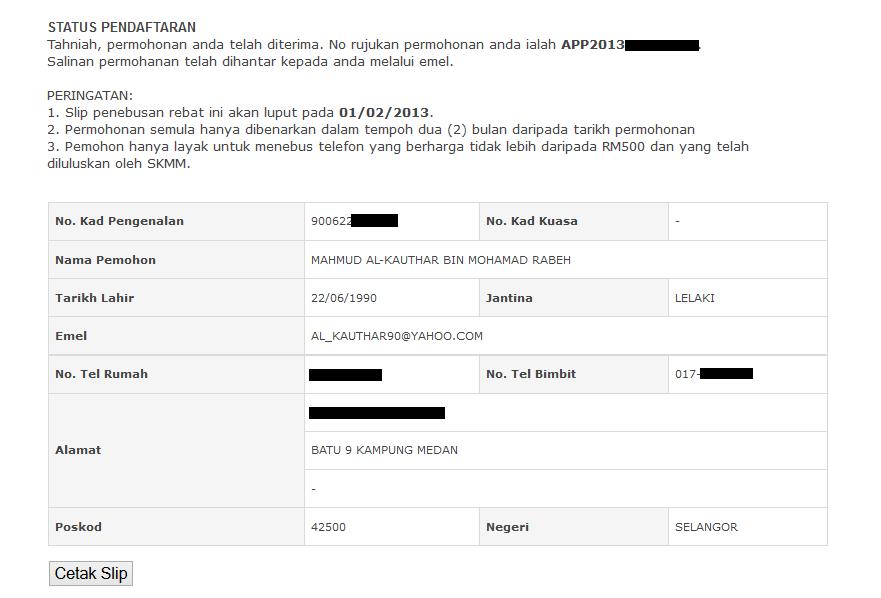 5.+Status+Pendaftaran Pendaftaran Pakej Komunikasi Belia   Rebat RM200 SKMM Di Buka Sekarang!