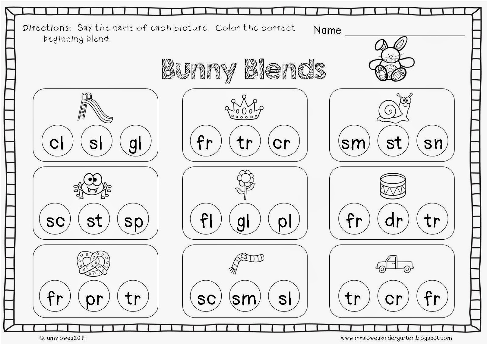 Blends For Kindergarten Scalien – Blend Worksheets Kindergarten