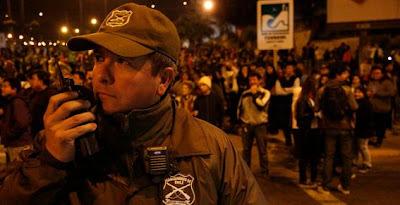 Evacuaciones masivas en simulacro de terremoto y tsunami en Peru y Chile - 23 Octubre 2012