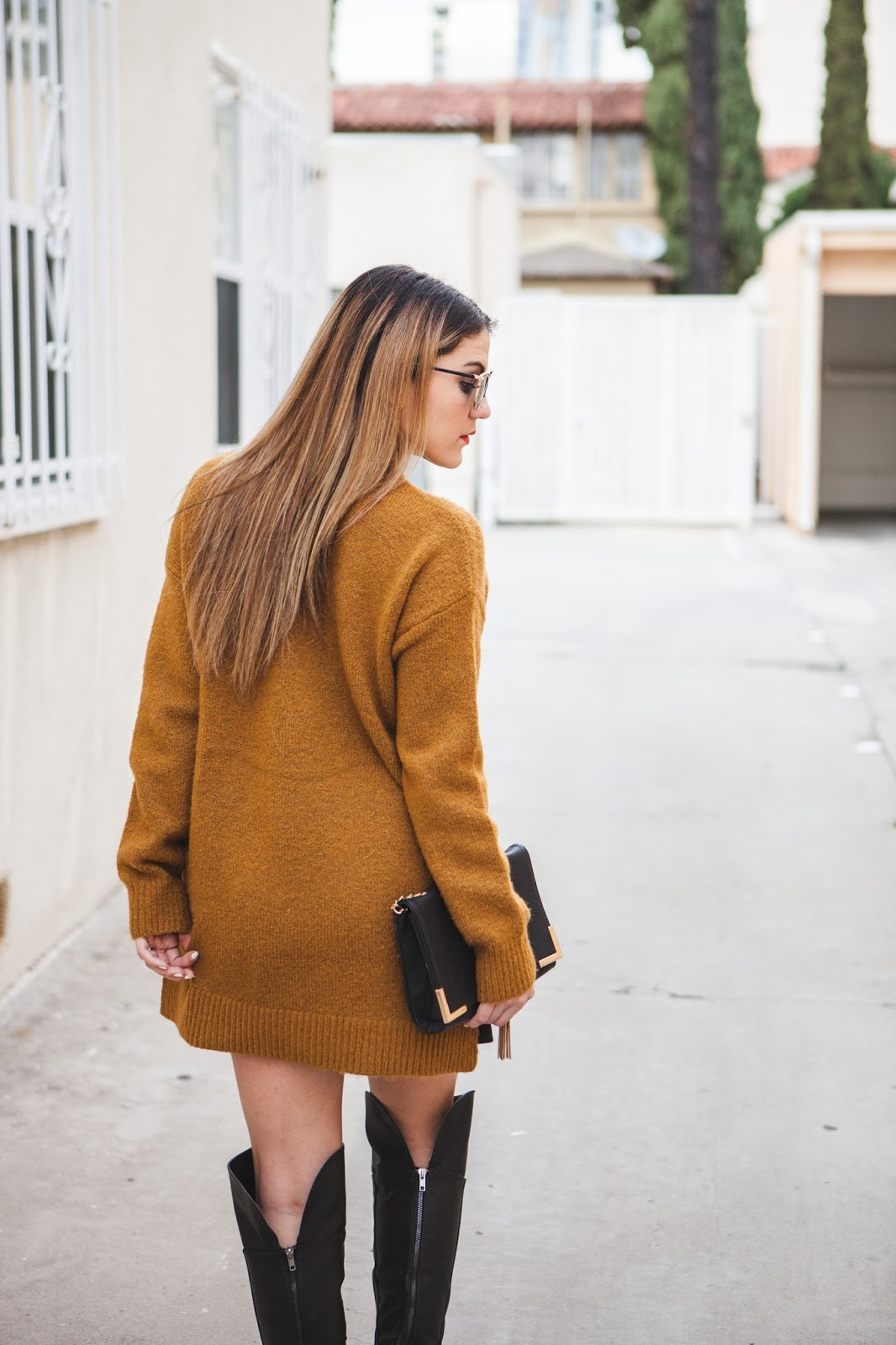 Mustard Turtleneck Knit