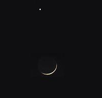 Slender Crescent and Venus Conjunction