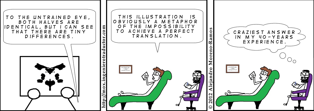 cartoon Rorschach tests translators
