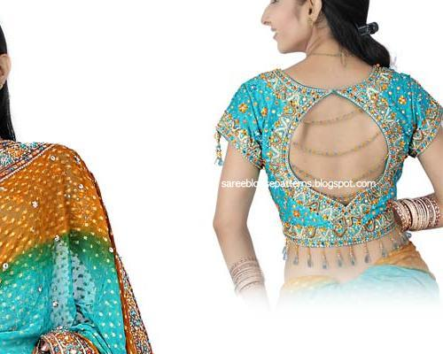 blouse back neck designs. Blouse Neck Designs: Saree