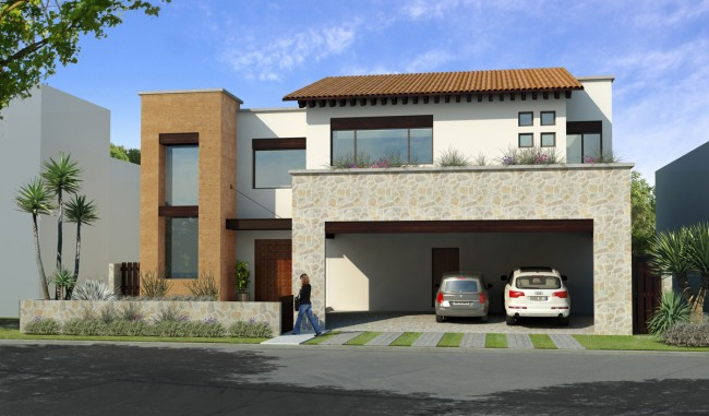 Fachadas de casas modernas abril 2013 for Casas estilo minimalista de dos plantas