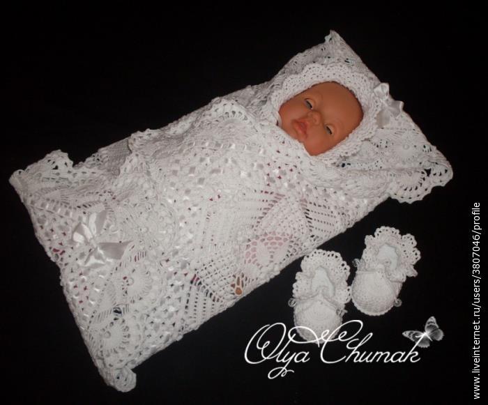 Вязаное одеяло для новорожденного своими руками крючком