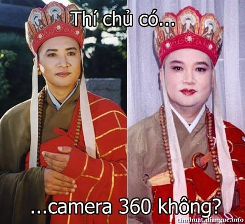 Ảnh chế Đường Tăng - Thí chủ có camera 360 không ?