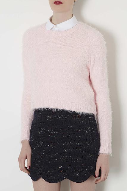 pale pink crop jumper
