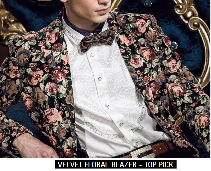 http://www.perfectmensblazers.com/shop-mens/outlet/men-clothing/blazers-velvet-floral-print-blazer-with-round-hem-p-388.html