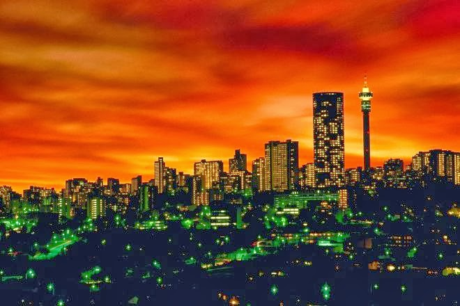 The Skyline of Johannesburg City, South Africa