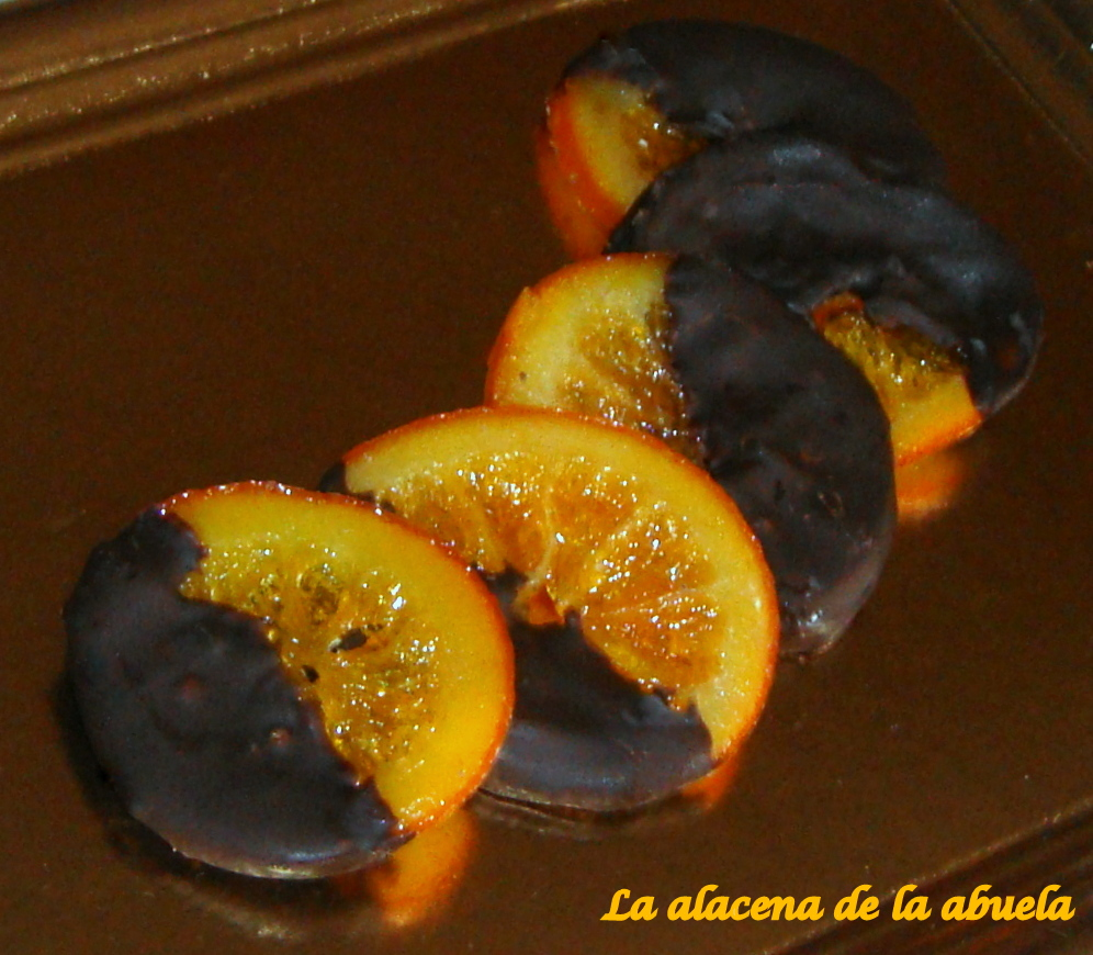 La alacena de la abuela carmen naranjas confitadas con for Cocina casera de la abuela